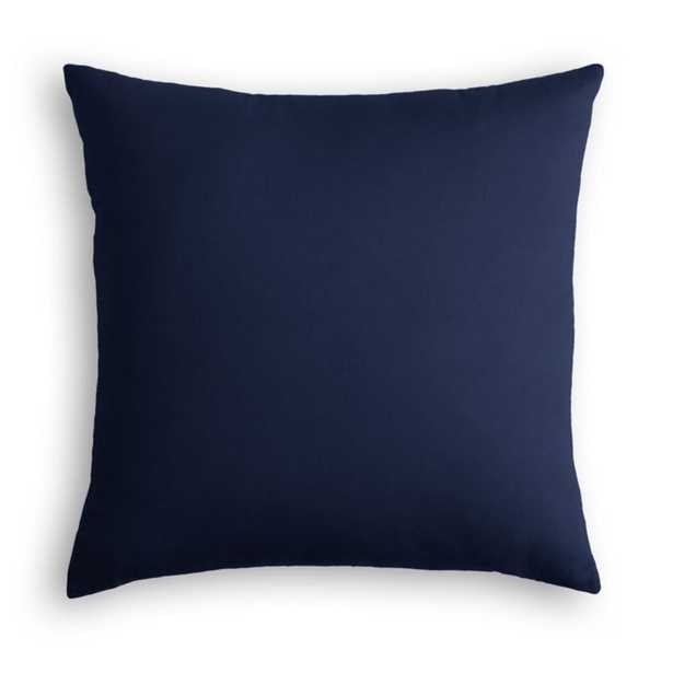 "Throw Pillow Classic Velvet - Navy 24"" x 24"" - Loom Decor"
