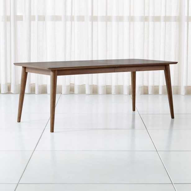 Tate Walnut Extendable Midcentury Dining Table - Crate and Barrel