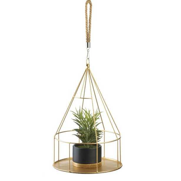 Hanging Pot Gold - Wayfair