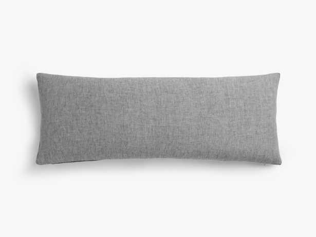 Linen Pillow Cover 36 x 14 lumbar Black Chambray - Parachute