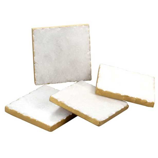 Old Hollywood Square Marble Coaster - Wayfair