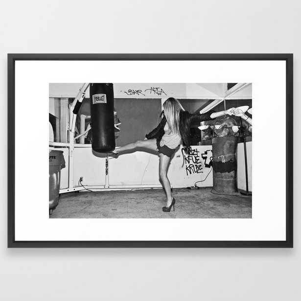 Heel Kick Framed Art Print - Society6