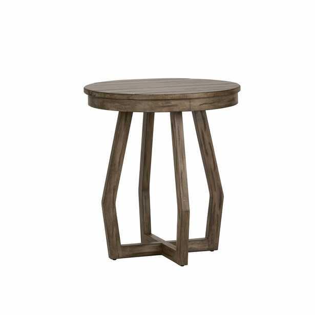 Easton Chairside Cross Legs End Table - Wayfair