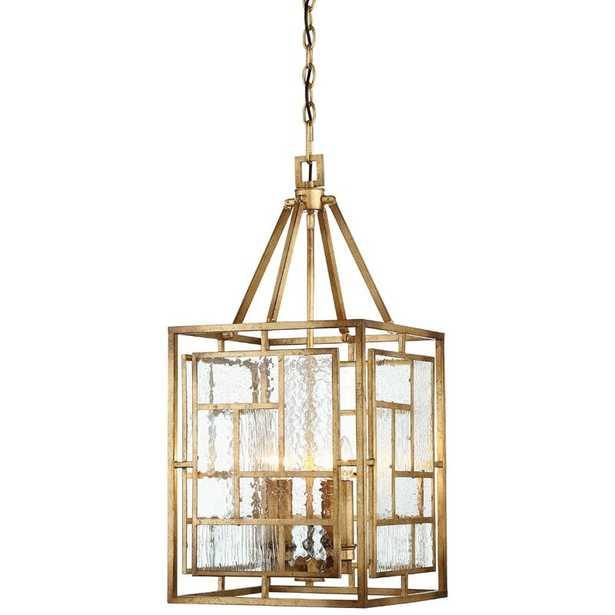 "Edgemont Park 4 - Light Lantern Rectangle Pendant - 14""W - Wayfair"