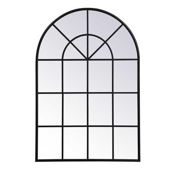 "Menton Metal Modern and Contemporary Beveled Accent Mirror, Black, 47.25"" x 31.5"" - Wayfair"
