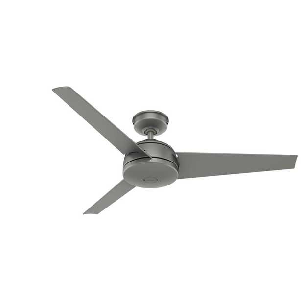 Trimaran 52 in. Indoor/Outdoor Matte Silver Ceiling Fan with Wall Switch - Home Depot