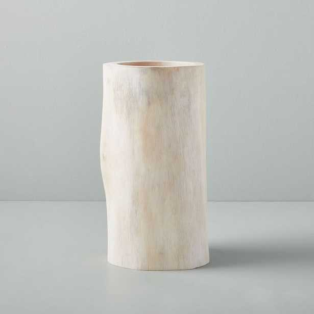 Bleached Wood Vase, Medium - West Elm