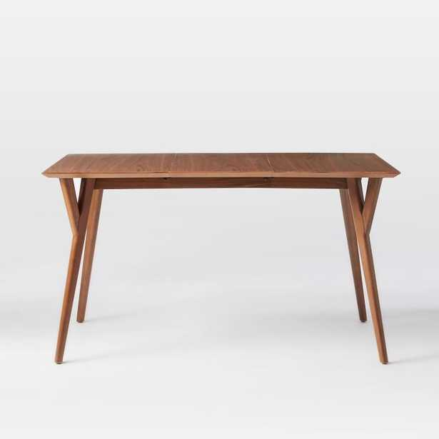 """Mid-Century Expandable Dining Table, 60""""w""""-80""""w"""", Walnut - West Elm"""
