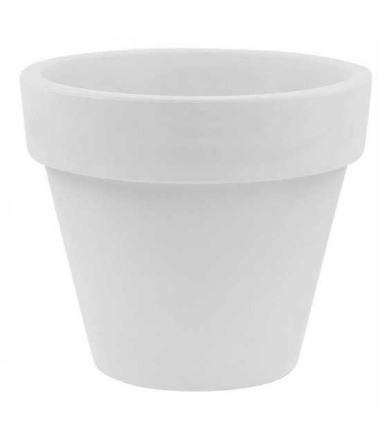 "Vondom Maceta Resin Pot Planter Color: White, Size: 10.25"" H x 11.75"" W x 11.75"" D - Perigold"