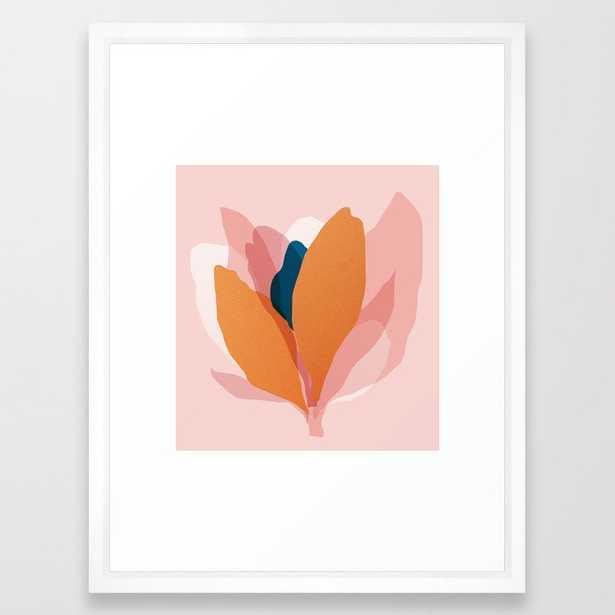 Abstraction_Floral_Blossom Framed Art Print - Society6