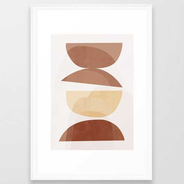 """231 abstract minimal 7 Framed Art Print_Large (gallery) - 26"""" X 38""""_Scoop White Frame - Society6"""