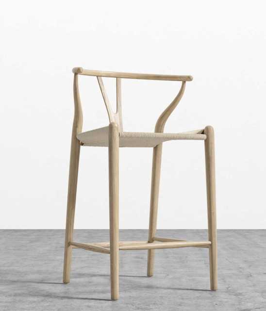 Wishbone Counter Stool - Natural Natural Seat Cord - Rove Concepts