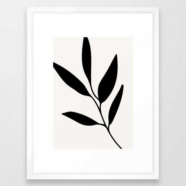 Abstract Leaf Branch Framed Art Print - Society6