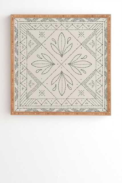 JANELLE CREAM Framed Wall Art By Iveta Abolina - Wander Print Co.