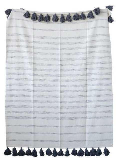 Tricia Stripes Woven Cotton Throw - Wayfair