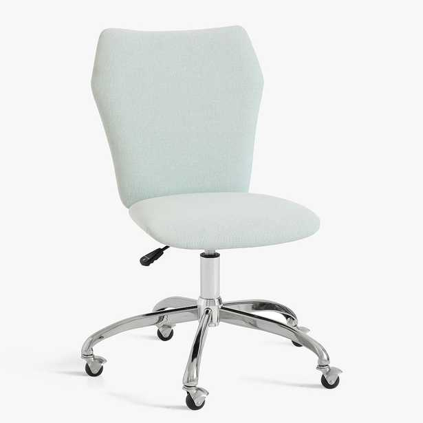 Recycled Chenille Washed Pool Airgo Swivel Desk Chair - Pottery Barn Teen