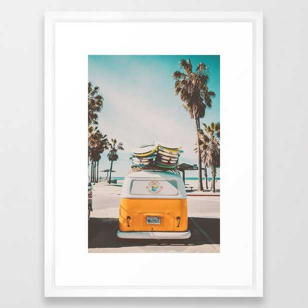"""Coming Home to California Framed Art Print - Vector White  - 20"""" x 26"""" - Society6"""