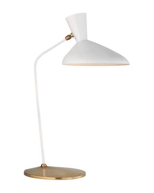 AUSTEN OFFSET TABLE LAMP - MATTE WHITE - McGee & Co.