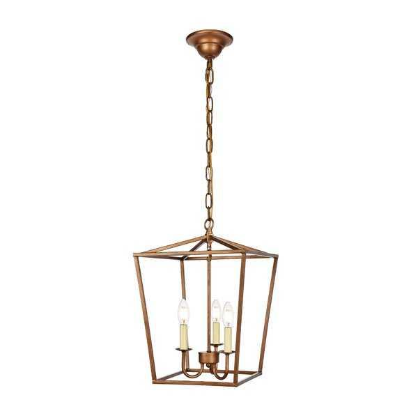 Sennett 3-Light Lantern Pendant - Wayfair
