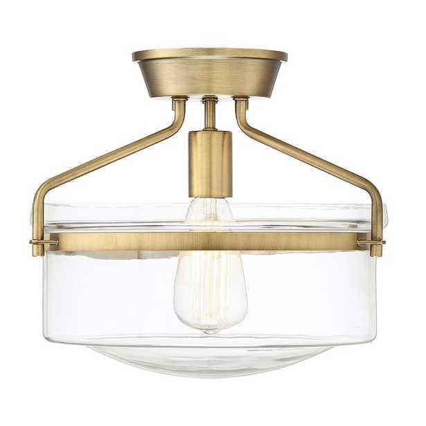 Pollak 1-Light Semi Flush Mount (natural brass) - AllModern