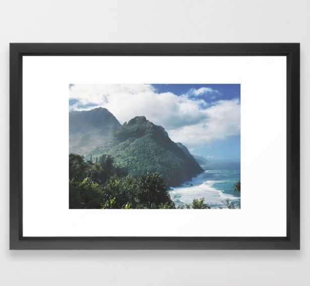 "Na Pali Coast Kauai Hawaii Framed Art Print - 15"" x 21"" - Society6"