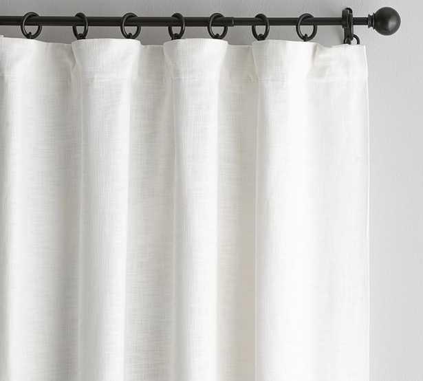 "Seaton Textured Drape, 50 x 84"", White, Cotton Lining - Pottery Barn"