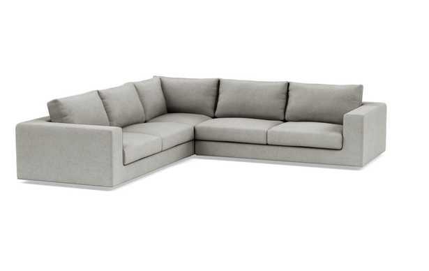"WALTERS Corner Sectional Sofa, 119"", Ore Heavy Cloth - Interior Define"