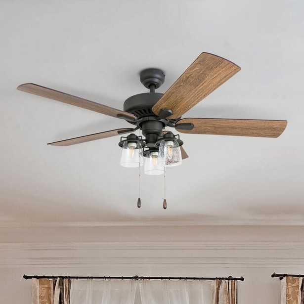 "52"" Lorinda 5 - Blade Standard Ceiling Fan with Light Kit Included - Birch Lane"