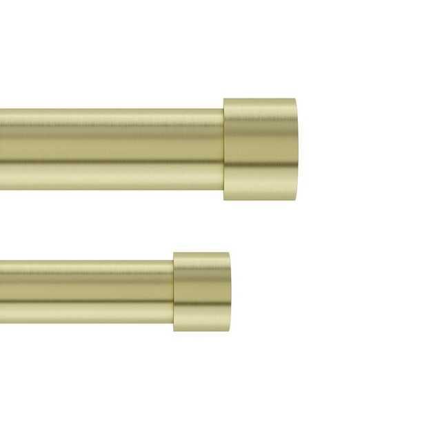 "120"" x 180"" Brass Caiden Curtain Rod Set - Wayfair"