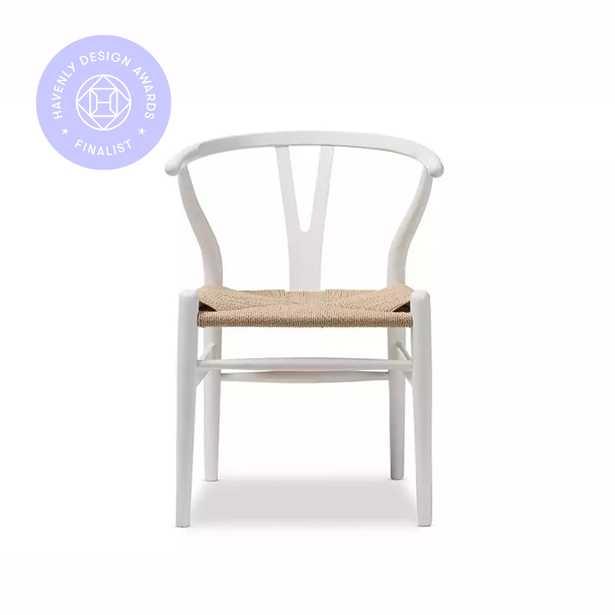 Knoll Chair, White, Set of 2 - Haldin