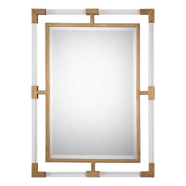 Balkan Modern Gold Wall Mirror - Hudsonhill Foundry