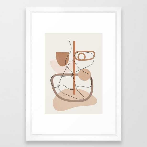 Abstract Line Movement I Framed Art Print - Society6