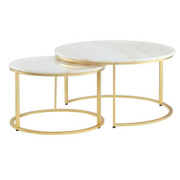Kayson Round 2 Piece Coffee Table Set - Wayfair