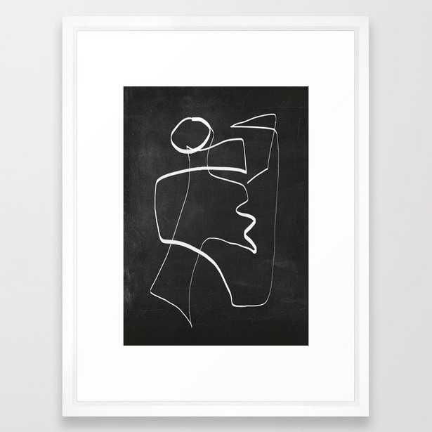 Abstract line art 6/2 Framed Art Print - Society6