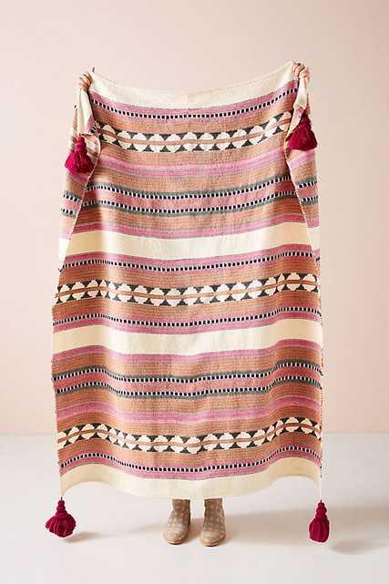 Woven Lakshmi Throw Blanket - Anthropologie