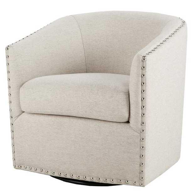 "Leominster Swivel 19.5"" Barrel Chair - Birch Lane"