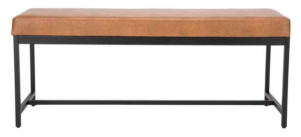Chase Faux Leather Bench - Brown - Arlo Home - Arlo Home