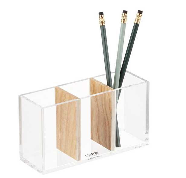 Lund London Nordic Triple Storage Pen Cup - containerstore.com
