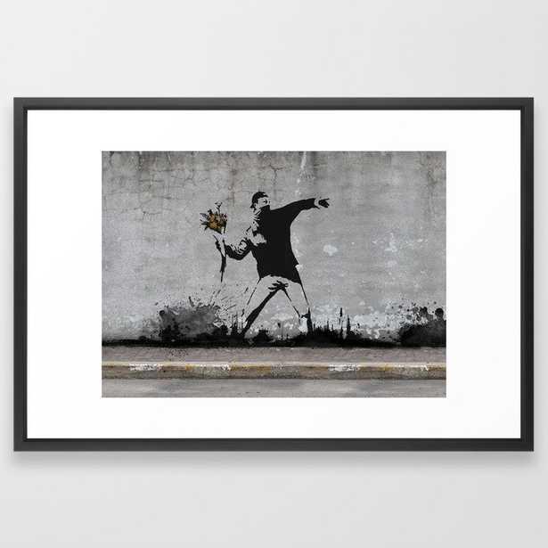 Banksy - Vector Black - Society6
