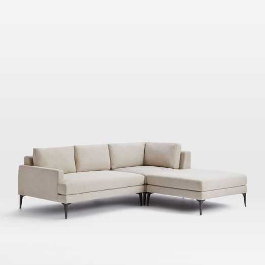 Andes 3-Piece Chaise Sectional - Left-Arm Sofa & Ottoman & Right-Arm Corner - West Elm