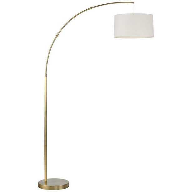 Cora Brass Finish Metal Arc Floor Lamp - Lamps Plus