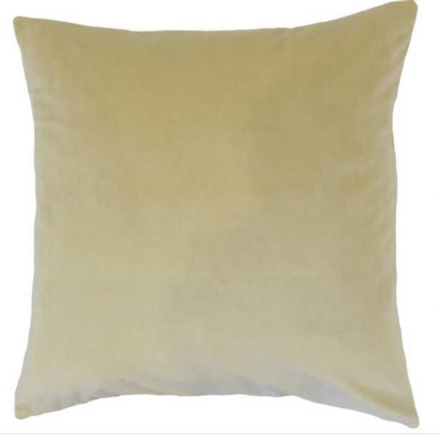 """Nizar Solid Pillow Sand - 22"""" x 22"""" - standard Insert - Linen & Seam"""
