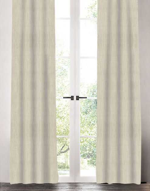 """Linen Drapery Single Panel, Natural, 96"""" - Havenly Essentials"""
