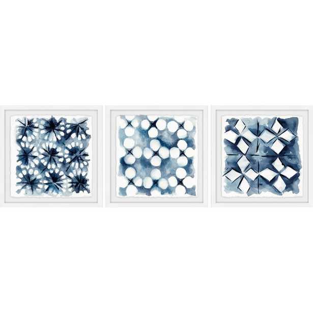 Indigo Study VIII Triptych - 3 Piece Picture Frame Print on Paper - Wayfair