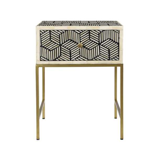 Emilia Inlay Side Table - Maren Home