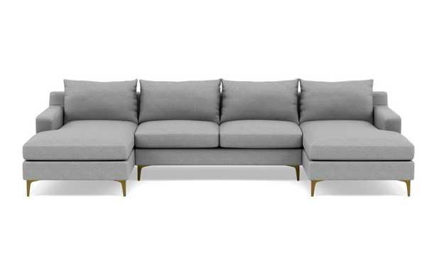 SLOAN  U SHAPED SECTIONAL - silver grey - Interior Define