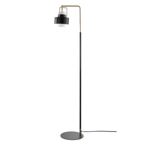 Brendon Floor Lamp - Black/Brass Gold - Arlo Home - Arlo Home