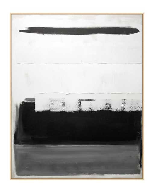 BLACK & WHITE COLORBLOCK Framed Art - McGee & Co.