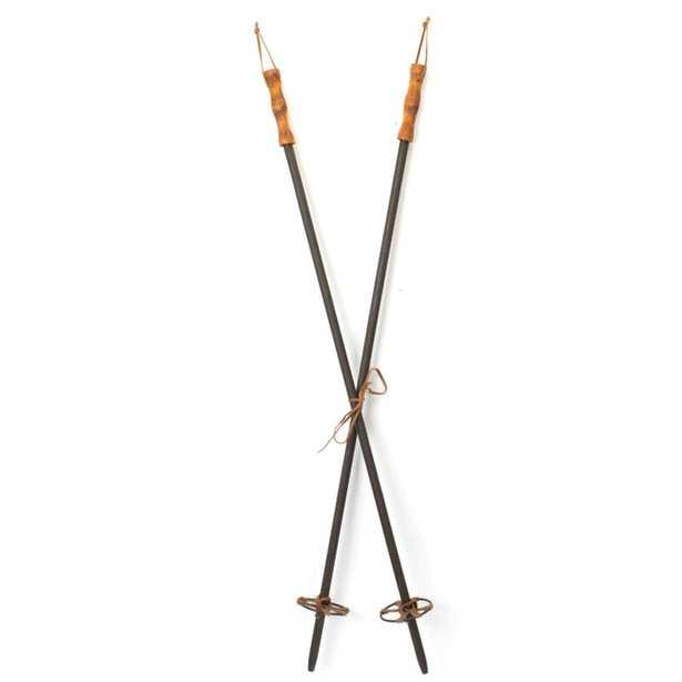"Ski Poles (Set Of 6) 39.5""H Wood/Metal (Set of 6) - Wayfair"