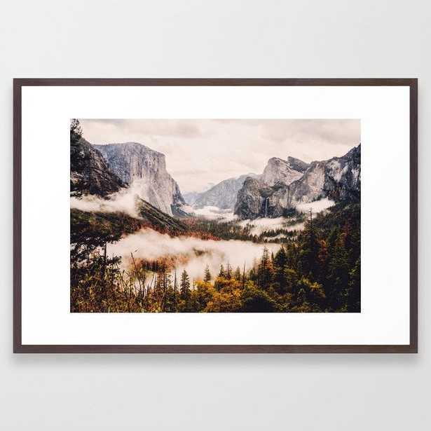Amazing Yosemite California Forest Waterfall Canyon Framed Art Print - Society6